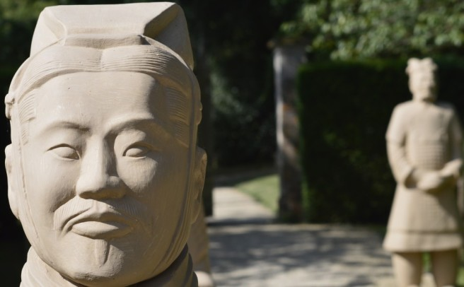 A copy of the Terracotta Warriors in Buscot Park